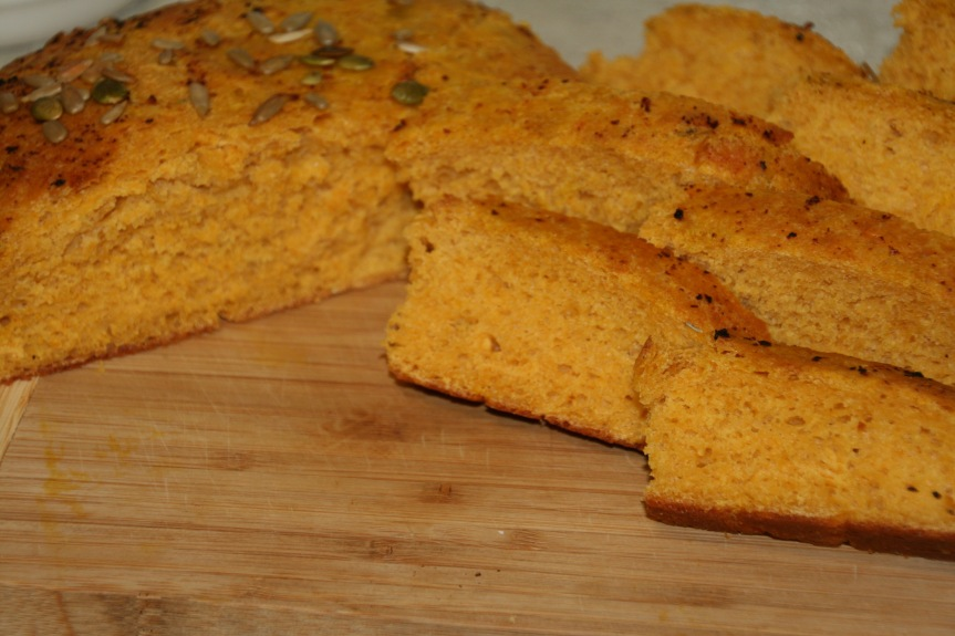 Dairy-free pumpkin bread: Test 2